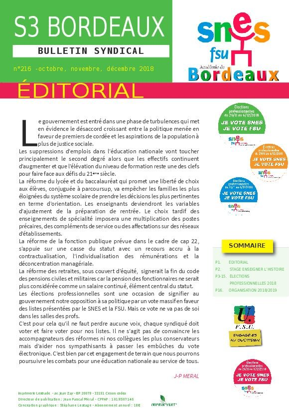 Bulletin académique n°216